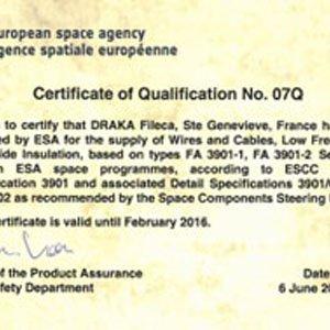欧空局恢复对DrakaFileca的信任